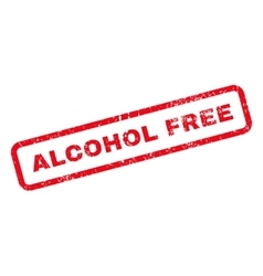 Alcohol Free Text Rubber Stamp vector image