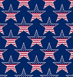 American stars seamless pattern vector