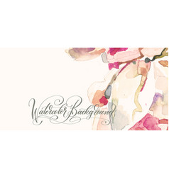 Artistic design of abstract trendy pink watercolor vector