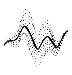 audio equalizer electronic icon simple black vector image
