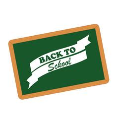 Back to school board design vector