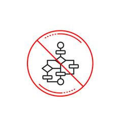 Block diagram line icon path scheme sign vector