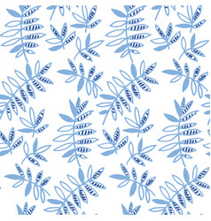 Blue floral motif vector
