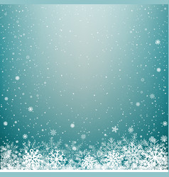 blue light winter snow background vector image