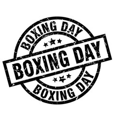 Boxing day round grunge black stamp vector