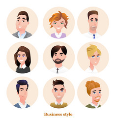 Business people avatars set vector