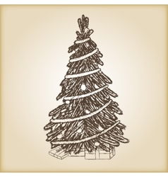 Christmas hand drawn - Xmas vector