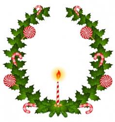 Christmas wreathe vector