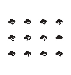 Cloud icons on white background vector image