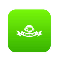 control machinery icon green vector image