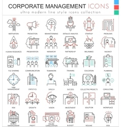 Corporate managment ultra modern color vector image