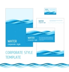 Corporate style template water vector image