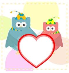 cute love owl vector image
