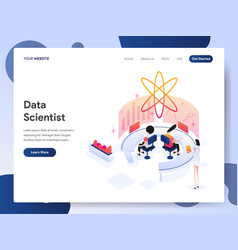 data scientist isometric concept vector image