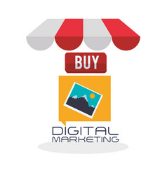 Digital marketing design ecommerce icon isolated vector