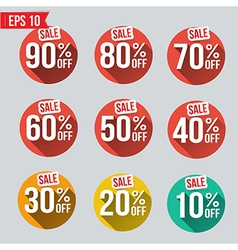 Discount tag flat and long shadow design - - vector