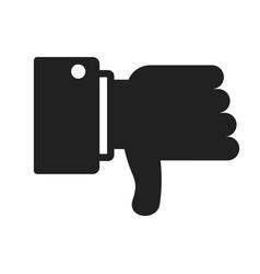 Dislike black icon vector