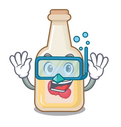Diving apple cider isolated with mascot vector