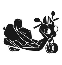 double motorcycle icon simple style vector image