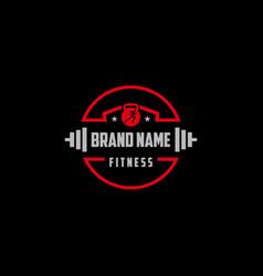 Fitness logo design concept vector