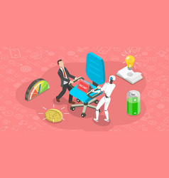 Flat isometric concept competition of vector
