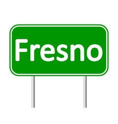 Fresno green road sign vector image