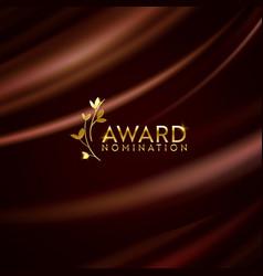 Golden winner laurel wreath glitter banner award vector