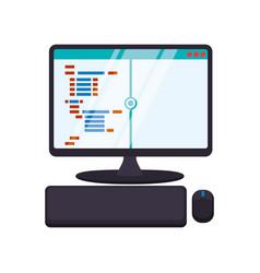 html programming code vector image