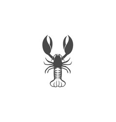 Icon crayfish lobster vector