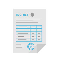 invoice icon in the flat style vector image