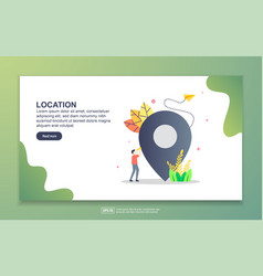 landing page template location modern flat vector image