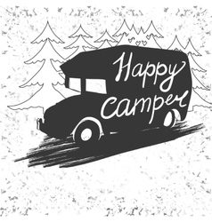 lettering travel typographic camp calligraphy vector image