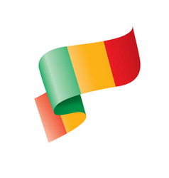 mali flag on a white vector image
