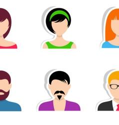Men and women labels vector image