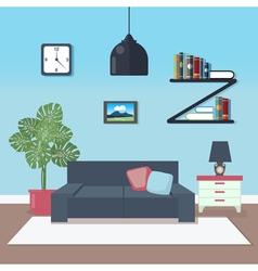 Modern Interior Living Room Design vector