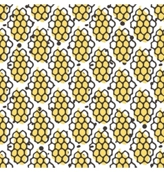 Natural honey seamless pattern Bio hand vector