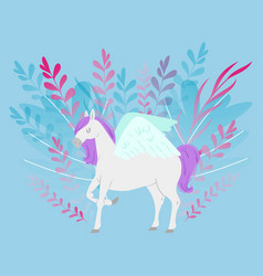 pegas or unicorn fantasy magic horse cartoon vector image