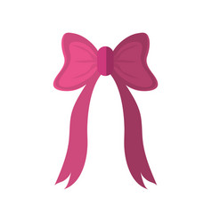 pink bow icon vector image