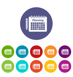 planning icon simple style vector image