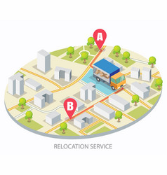 Relocation service concept for web banner vector