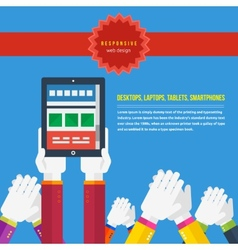 Responsive web design concept vector image