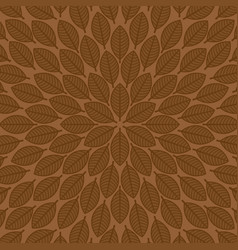 round pattern with leaves floral pattern vector image