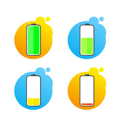 set battery level icon or logo vector image