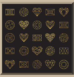 set geometric icons vector image