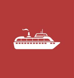 ship modern icon vector image
