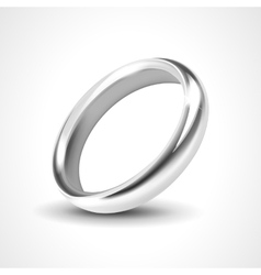 Silver Ring Isolated on White Background vector image