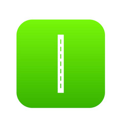 single-lane road icon green vector image
