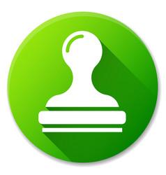 stamp green circle icon design vector image