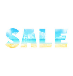 summer sale in double exposure vector image