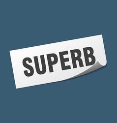Superb sticker superb square sign superb peeler vector